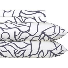 Marimekko Bottna slate Queen Sheet Set