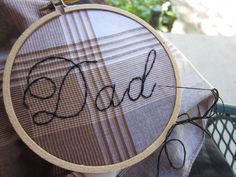Embroider-it-yourself hankie kit for Dad via @Etsy
