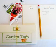 Garden Journal/Garden Tag Organizer:  Potting and Planting Collection by PaperieGardener on Etsy