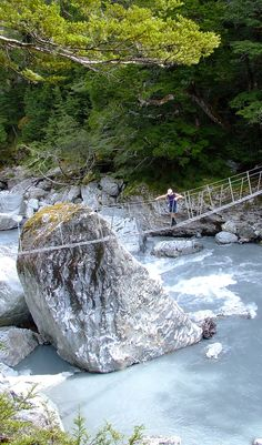 Daley's Flat footbridge - New Zealand Amazing Places, Beautiful Places, Central Otago, New Zealand Travel, South Island, Small Island, Adventure Is Out There, Places To See, The Good Place
