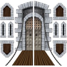 Amazon.com: Castle Door & Window Props Party Accessory (1 count) (9/Pkg): Toys & Games