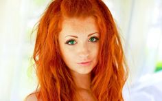Red Hair, green eyes, and freckles. Sigh!!!!