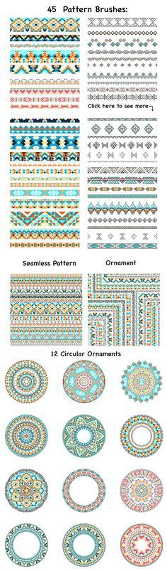 45 Vector Pattern Brushes - Brushes