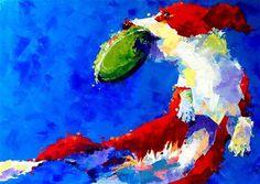 """No. 277 Catch of the day"" - Original Fine Art for Sale - © Tilen Ti"