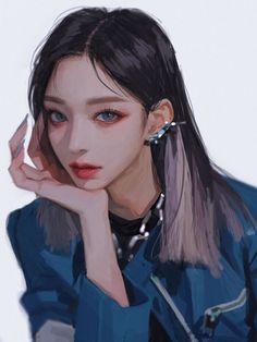 Pretty Anime Girl, Anime Art Girl, Manga Art, Digital Art Anime, Digital Art Girl, Pretty Art, Cute Art, Aesthetic Art, Aesthetic Anime