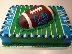 Astonishing Football Cake Decorating Ideas throughout Football Birthday Cake Birthday Cake Kids Boys, Birthday Cake For Him, Sports Birthday, Themed Birthday Cakes, Husband Birthday, Birthday Ideas, 8th Birthday, Birthday Crafts, Birthday Parties