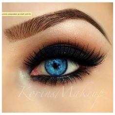 Blue eyes ❤ liked on Polyvore featuring beauty products, makeup, eyes, beauty and eye makeup