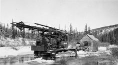 Mountains Of Madness, Drilling Rig, Rigs, Train, Outdoor, Antique, Image, Outdoors, Wedges