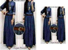 Jual Baju Maxi Dress Denim R.262 Keren - http://www.butikjingga.com/baju-maxi-dress-denim-r-262