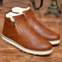 """HOT PRICES FROM ALI - Buy """"Mens boots old skool ankle winter shoes fashion plush PU leather male boots black shoes retro warm snow boots """" for only USD. Blue Suit Shoes, Black Suit Brown Shoes, Brown Shoes Outfit, Brown Leather Shoes, Black Boots, Pu Leather, Brown Boots, Black Leather, Mens Snow Boots"""
