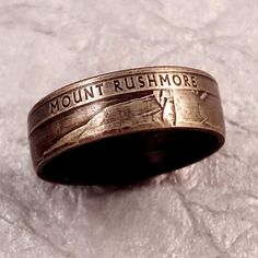 Coin Ring Mount Rushmore National Park Quarter YOUR by MidnightJo  #midnightjo #coinring #coinjewelry #handmadejewelry #artisan #unique #mountrushmore #souvenir #etsy
