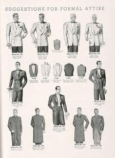 Suggestions for Formal Attire