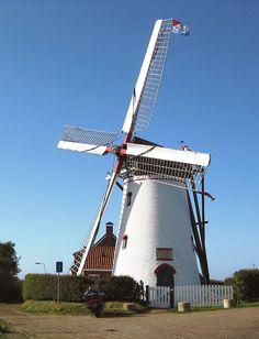 Flour mill (stenen grondzeiler), Stavenisse, the Netherlands