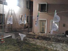 Campagna #nomenomen vicino al Ponte Tiberio, Rimini (IT).  Poesia errante.