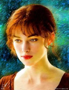 Keira Knightley, Celebrity Drawing. I love the  colors produced in this
