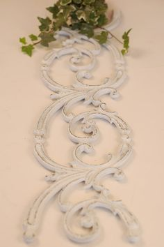 Shabby Floral Metal Panel by OldHouseChic on Etsy, $35.00