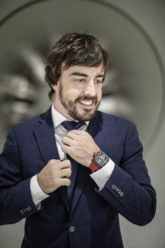 Fernando Alonso models the incredible RM 50-03 McLaren F1 timepiece for Richard Mille.