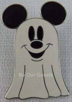 Disney Parks Mickey Mouse Halloween Ghost 2004 Pin New