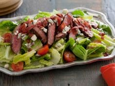 BLT steak salad - Loving Bobby Dean's new show! Taking his mom's recipes and making MUCH healthier versions of them!