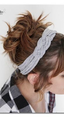 DIY knotted headband - from a tshirt! so simple yet so cute - I want to make a million of these - -Sugar Bee Crafts