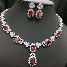 2015 New Four Colors Zircon Pendant Necklace And Cad . 2015 New Four Colors Zircon Pendant Necklace And Bridal Chain Full of CZ Diamonds For We - Wedding Jewelry Sets, Bridal Jewelry, Diamond Necklace Set, Pendant Necklace, Jewelry Accessories, Jewelry Design, Fashion Jewelry, Women Jewelry, Ruby Jewelry