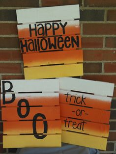 Wooden Pallet Candy Corn Halloween Sign ~ 11 X 8 by CKsCreativeCorner on Etsy