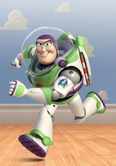 Buzz Lightyear is one of the main characters of the Disney Pixar Toy Story franchise. He is the deuteragonist of the movies and the titular protagonist and the popular Buzz Lightyear of Star Command TV series and movie. Buzz is as a slender spaceman action figure, with pop up wings, laser light flash, multi-sound voice simulator, wrist communicator, krate-chop action and open-able space helmet.