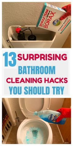 Here are the best bathroom cleaning hacks you will ever see. #cleaning hacks #household hacks #DIY hacks #household cleaning tips and tricks