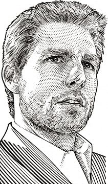 Wall Street Journal Hedcuts by Randy Glass, Tom Cruise. Pencil Portrait Drawing, Pencil Art Drawings, Portrait Art, Horse Drawings, Drawing Art, Tom Cruise, Stippling Art, Photoshop, Famous Art