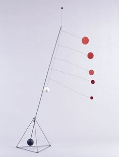 Alexander Calder Object with Red Discs 1931 regarded as his first standing mobile: