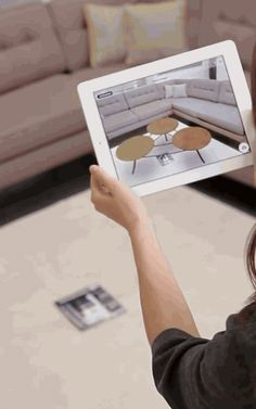This App Turns A Magazine Into An Interior Design Tool USING MAGAZINE FOR SCALE