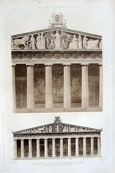 5 ~ DEMETER TEMPLE ELEUSIS Greece ~ Old 1905 Architecture Detail Art Print RARE!