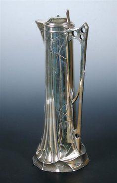 An Art Nouveau 'Electra' electroplate ewer