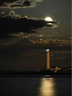Full Moon over lighthouse