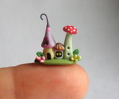 Miniature Wee Fingertip Fairy Colony OOAK by C. by ArtisticSpirit