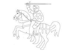 Ausmalbilder Ritter mit Pferd Ausmalbilder