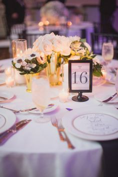 @Carissia Calvo  Ooo Cari, these table numbers are so prettyyy Photography by Taylor Lord Photography / taylorlord.com, Planning by Timeless Beginnings / timeless-beginnings.com, Floral Design by DeVinnie's Paradise / devinnies.com