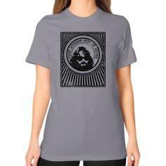 R J MacReady The Thing Unisex T-Shirt (on woman)