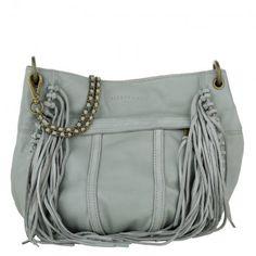 Liebeskind Tasche – Danielle Vintage Suede Fringes Shoulder Bag New Night Blue Light – in blau – Umhängetasche für Damen