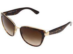 Dolce & Gabbana DG2107 Fashion Sunglasses - Gold/Havana/Brown Gradient Lens