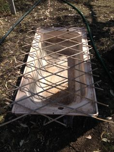 Old baths provide plenty of water but often drown birds that fall into them, some kind of stable structure on the top that provides a perch for the bird and access and plenty to grab onto helps. The water should be topped up daily which is easy if positioned near a hose/tap etc This one is ready to go, will post other pics of it when in service (hopefully tomorrow) :)