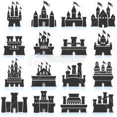 Medieval Castle black & white set