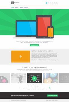 Display - Web Template (PSD)