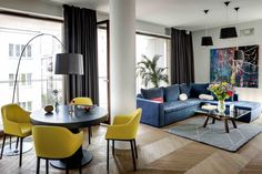 Filled With Color and Pattern, This Eclectic Apartment Brings a Little Madrid to Warsaw - Dwell