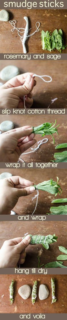 diy sage bundles/ smudge sticks