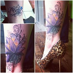 Coverup tattoo before and after #stiletto #coverup #flower #tattoo