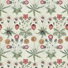 William Morris Daisy ~ Original Colors fabric by peacoquettedesigns on Spoonflower - custom fabric