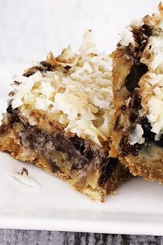 Seven Layer Bars Recipe with Chocolate and Butterscotch Chips, Walnuts, Coconut and Graham Crackers