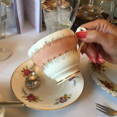 The day my friends took me out for afternoon tea to celebrate my birthday and we drank from these beautiful cups....