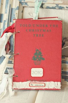 Make your own journals via Sweet Pea Ink.... more great pics on blog. I made journals for my Girls for Christmas this year, with all kinds for fun stuff, going in their stockings with art supplies!
